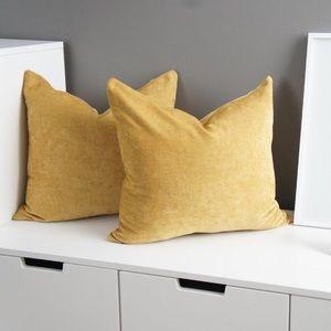 Mustard velvet throw pillow covers Rodeo Home